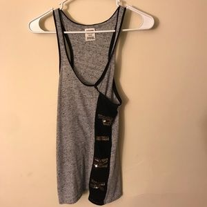 Victoria's Secret Pink gold bling tank top